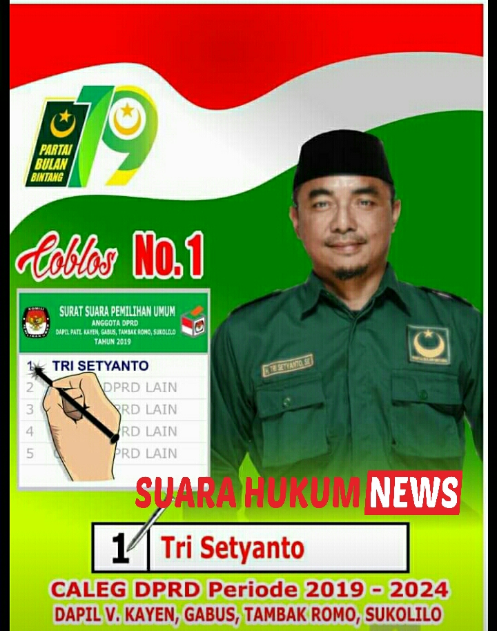 Tri Setyanto,S.E, Bertekad Membawa Perubahan Dikancah Pemilu Legislatif 2019