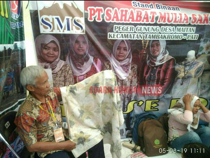 STAND BINAAN PT.SMS , TAMPILKAN BATIK TILAS'ERON DI ACARA PATI EXPO 2019