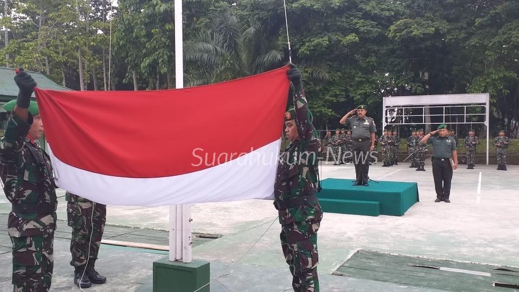 Upacara Hari Sumpah Pemuda Ke-91 Di Lapangan Makodim 1002 Barabai