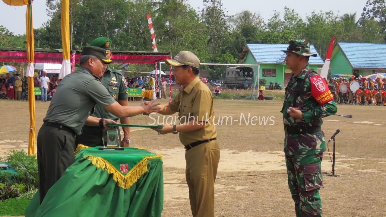 TMMD Ke-106 Kodim 1010, Resmi ditutup Oleh Kapok Sahli ,Pangdam VI Mulawarman