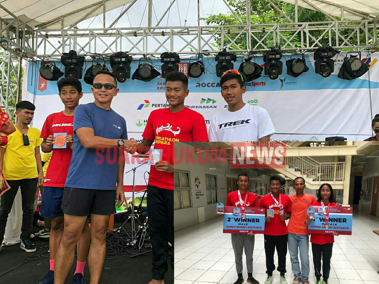 Dibawah Binaan Kodim 0719 Jepara , 3 Atlet Berhasil Sabet Juara Dalam Palembang Triathlon Series 1