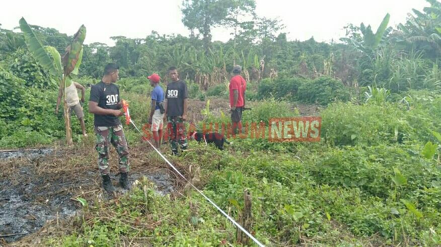 Satgas Raider 300 Bantu Permasalahan , Selesaikan Sengketa  Batas Tanah Antar Warga Di Desa Binaan