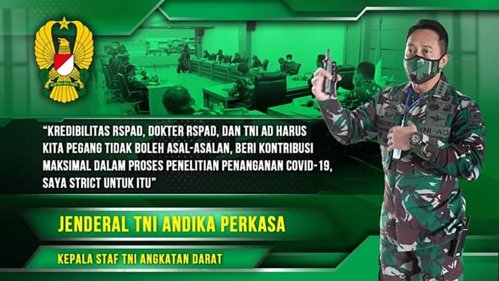 Kasad Berikan Instruksi RSPAD Terkait Penelitian Covid-19 I TNI AD