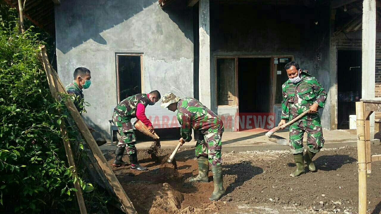 Pelaksanaan Pembangunan RTLH Di Desa Buaran , Satgas TMMD 0719 Jepara Kebut Pengerjaanya