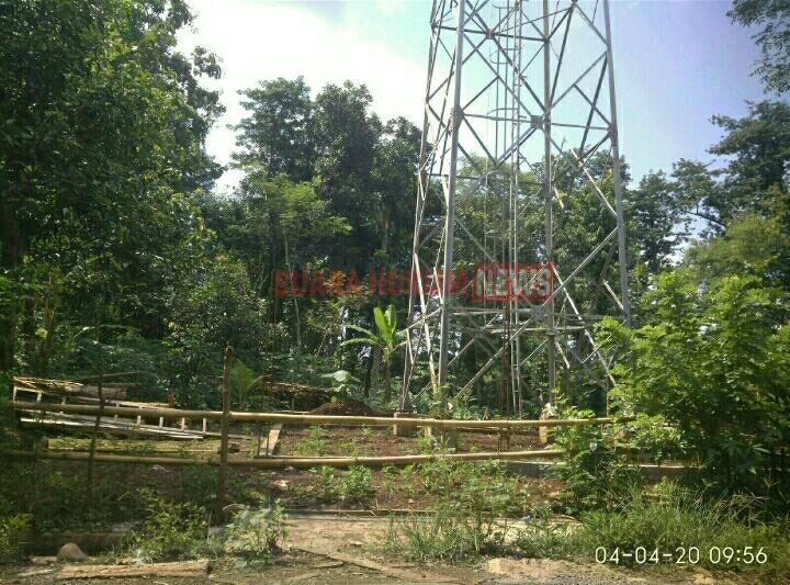 Belum Terima Uang Ganti Rugi , Pemilik Lahan Hentikan Pendirian Tower Di Desa Purwosari