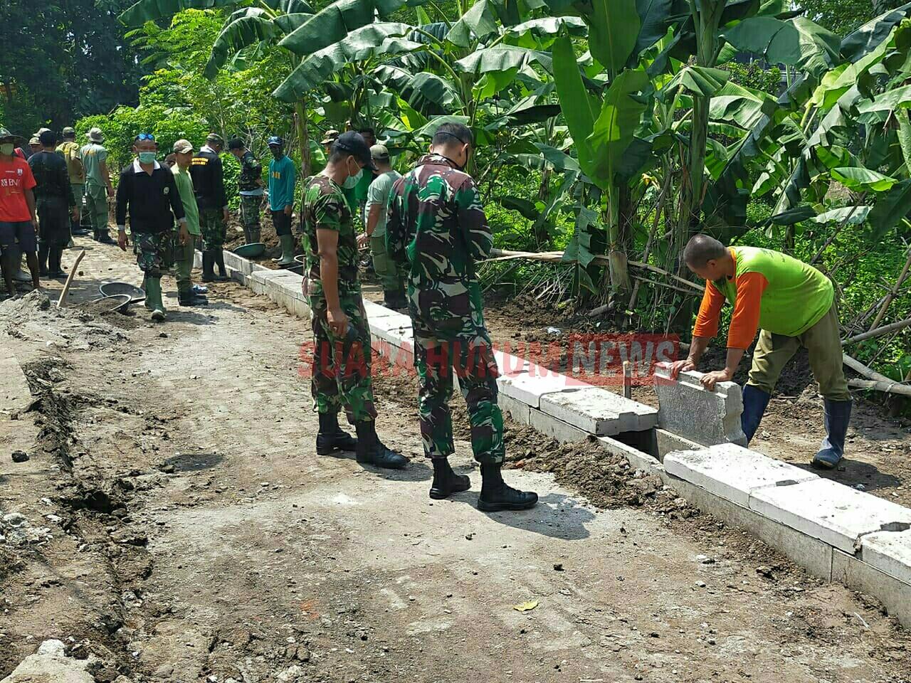 Komandan Kodim 0735 Surakarta , Tinjau Pelaksanaan TMMD Sengkuyung Tahap I Tahun 2020
