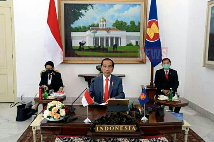 Presiden Jokowi Ikuti KTT ASEAN Khusus Tentang Covid-19