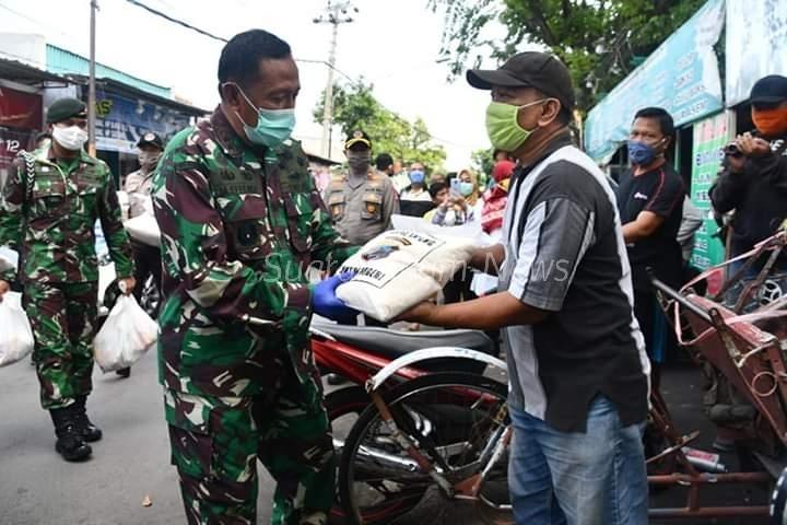 Sinergi TNI-Polri & Muspida, Bagikan Sembako Di Kota Semarang