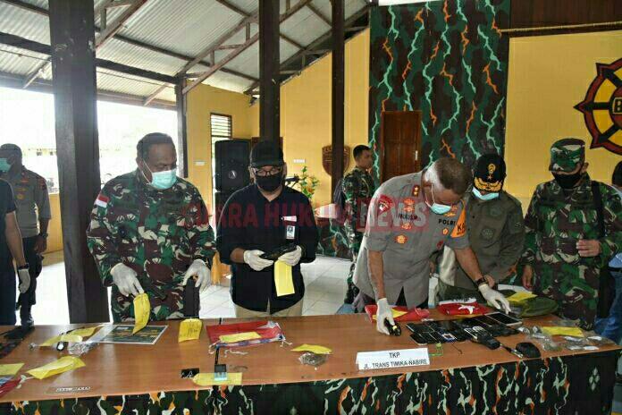 Tim Gabungan TNI-Polri Berhasil Amankan BerbagaiJenis Senjata Api Dan Amunisi Dari KKB Papua
