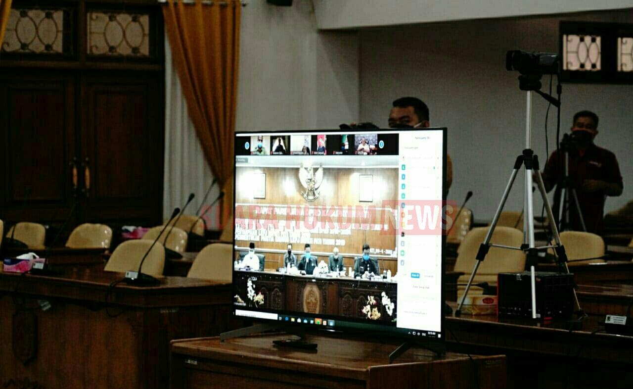 Rapat Paripurna Lewat Daring, Bupati Update Perkembangan Covid-19 di Kabupaten Pati