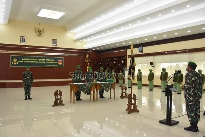 Sertijab Danrem 072/PMK & Irdam IV/Dip Dipimpin Langsung Oleh Pangdam IV Diponegoro