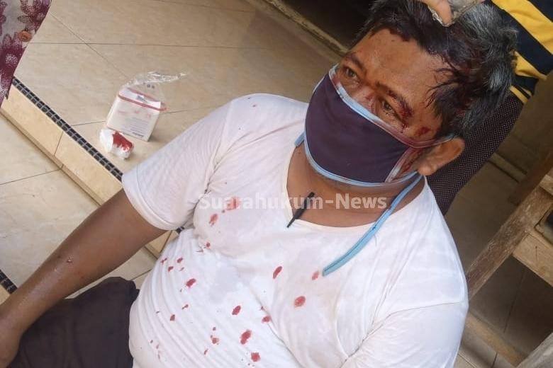 Dihantam Batu Oleh Tetangganya Hingga Mengalami Luka Di Kepala, Korban Lapor Polisi