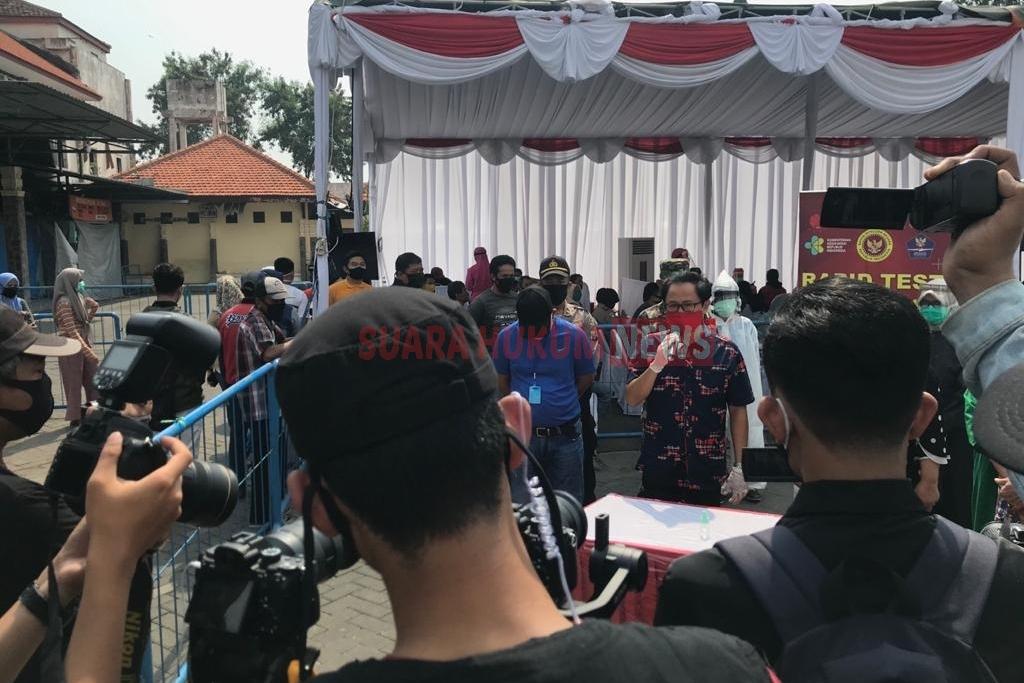 BIN Bersama Pemkot Surabaya Gelar Rapid Test Masal Di Halaman Parkir Wisata Relegi Sunan Ampel