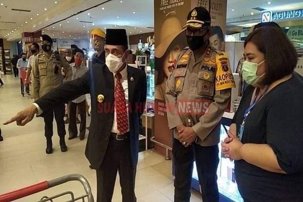 Hadapi New Normal, Kapolda, Gubernur Dan Pangdam Periksa Mall Di Kota Medan