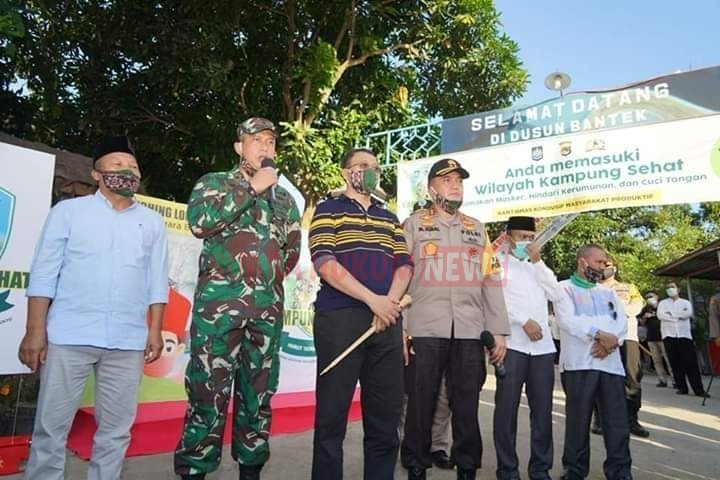 Songsong New Normal, Korem 162 Dukung Program Kampung Sehat Di NTB