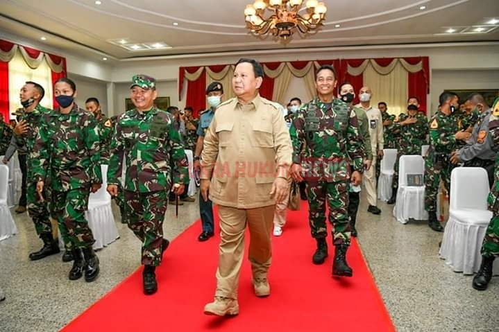 Kasad Dampingi Menhan RI Dalam Kunjungan Kerja Di Akademi Militer