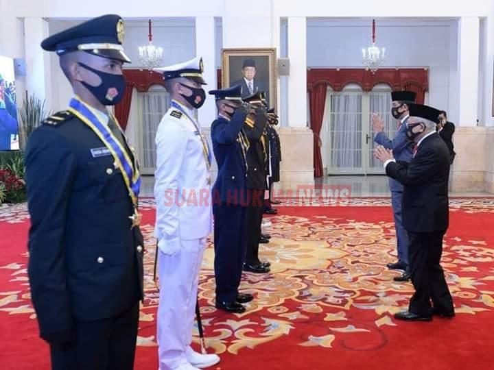Presiden RI Joko Widodo Lantik 750 Perwira TNI-Polri