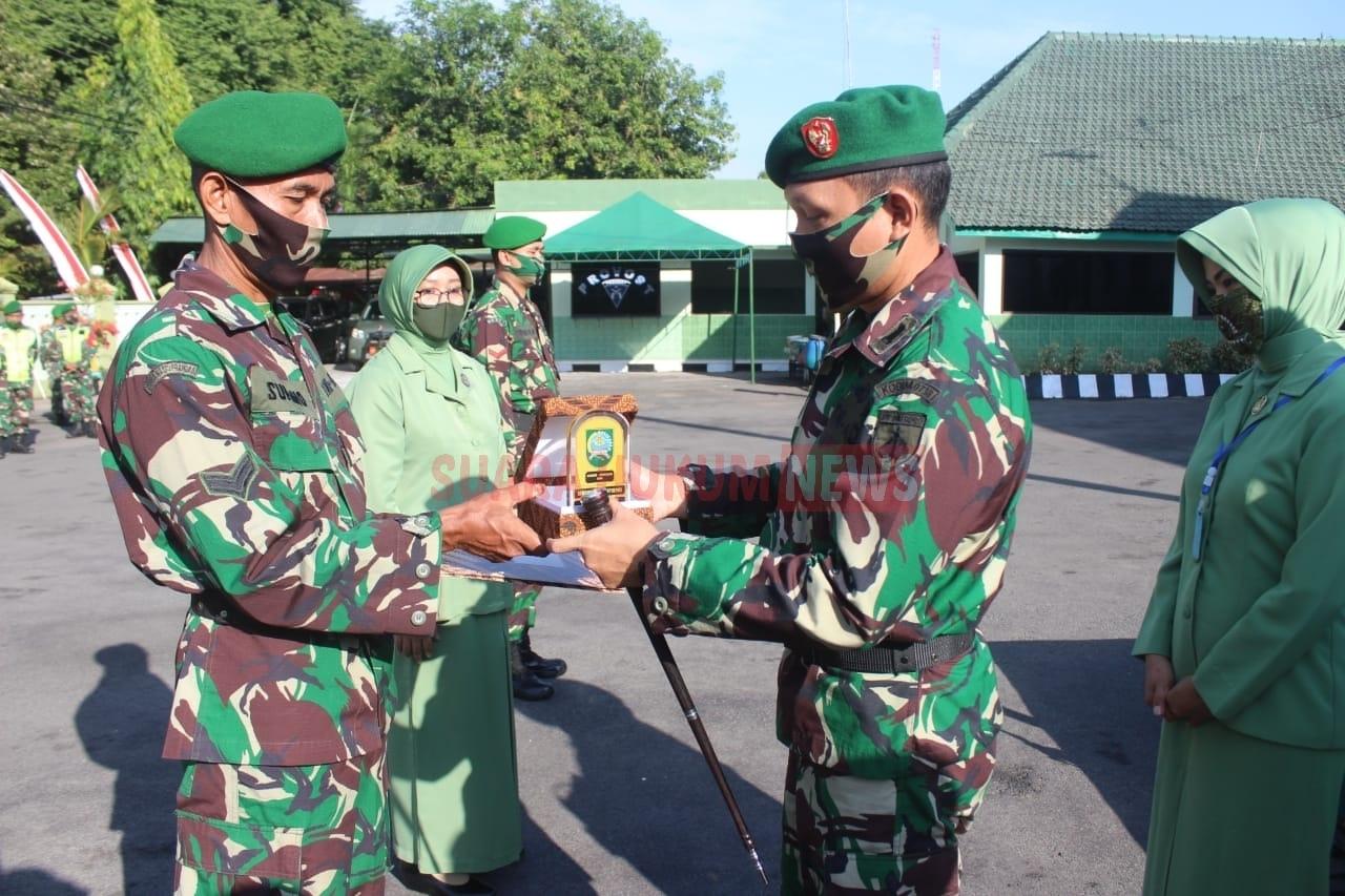 Kodim 0718 Pati Gelar Corps Raport Pindah Satuan Di Halaman Makodim Pati