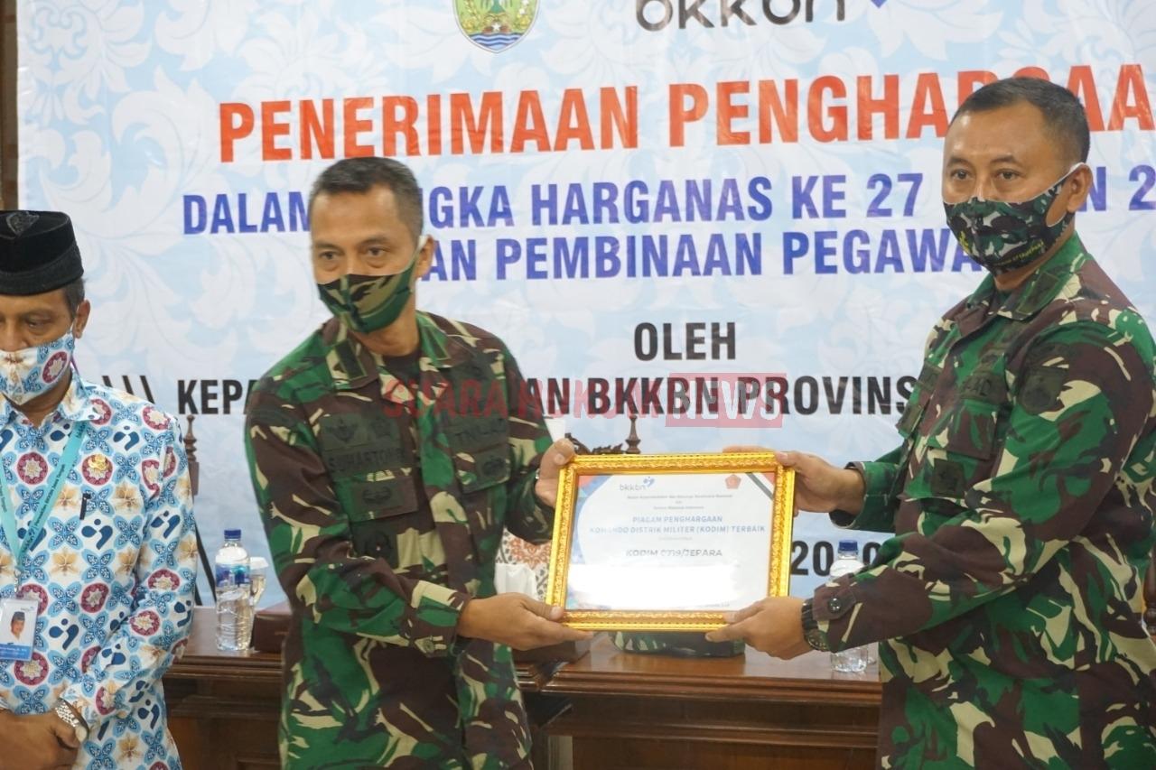 Kodim 0719/Jepara Raih Penghargaan Terbaik Pelayanan Akseptor KB Di Indonesia