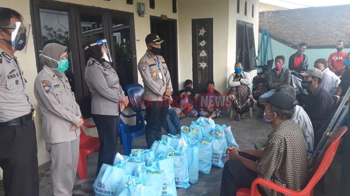 Jumat Berkah, Ditbinmas Polda Sumut Berbagi Antar Sesama Dan Sampaikan Himbauan AKB