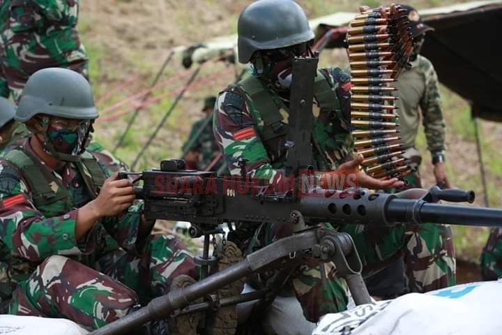 Asah Kemampuan, Brigif PR 18 Kostrad Latihan Menembak Senjata Bantuan
