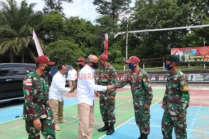 Satgas Yonif R-641 Terima Kunjungan Kerja Kepala BIN Daerah Kalimantan Barat