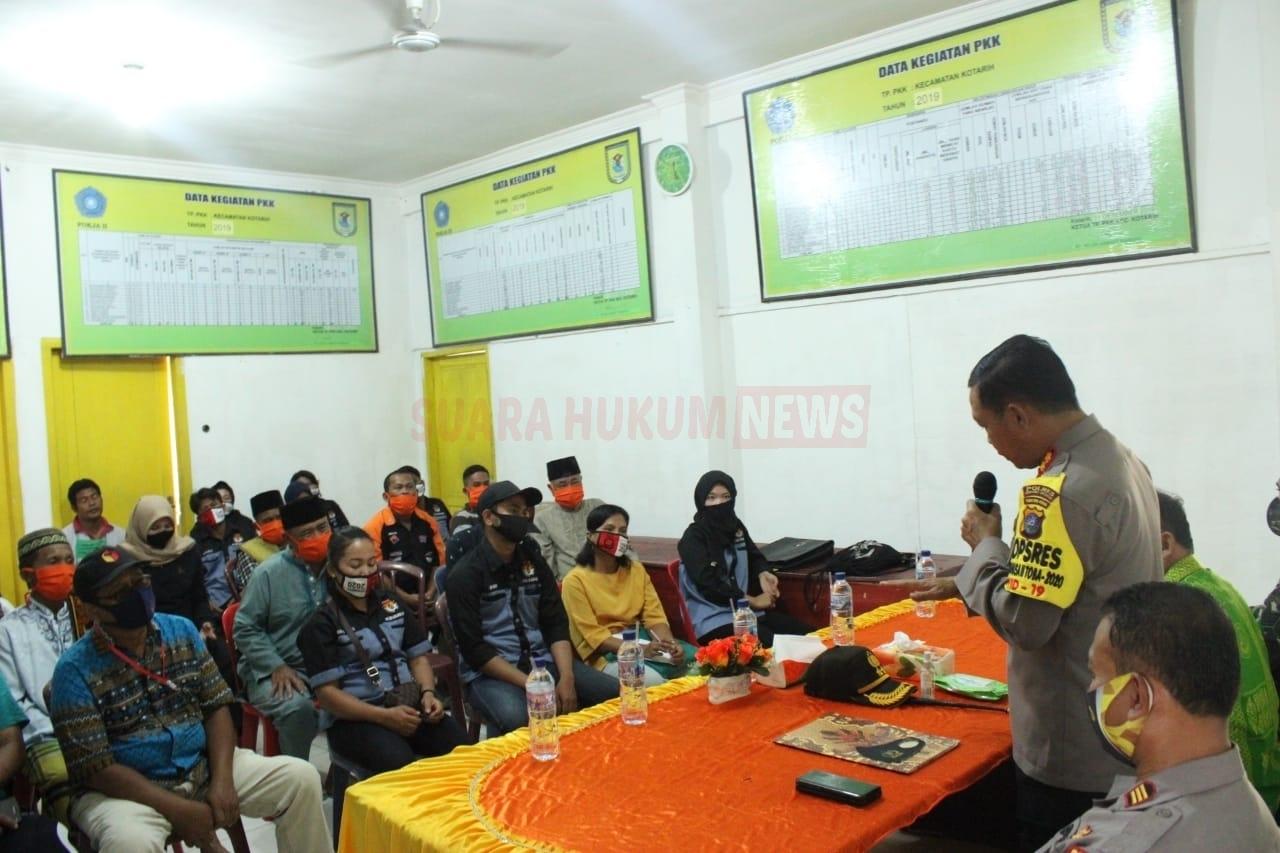 Kapolres Serdang Bedagai Sambangi Kecamatan Kotarih, Cipta Kondisi Jelang Pemilu