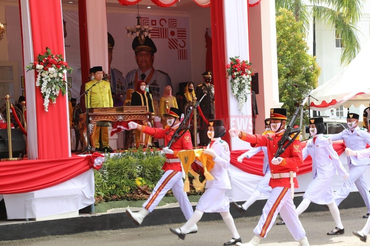 Menteri PPN Jadi Inspektur Upacara Peringatan HUT Kemerdekaan RI Di Gorontalo