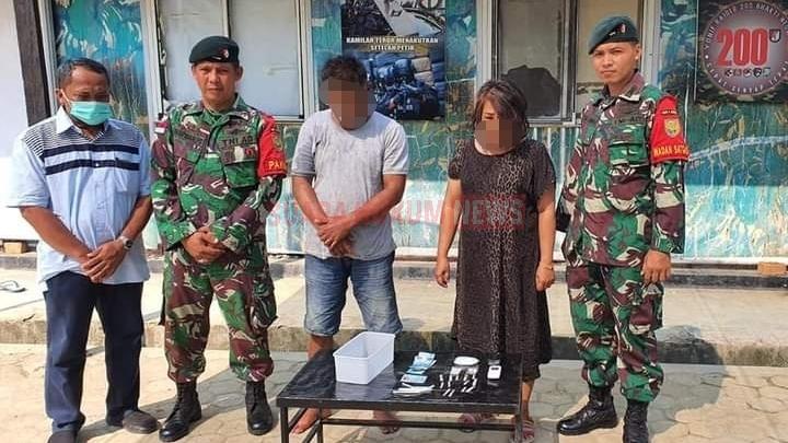 Reaksi Sigap Satgas Pamtas RI-Malaysia, Yonif Raider 200/BN Tangkap Pengedar Sabu