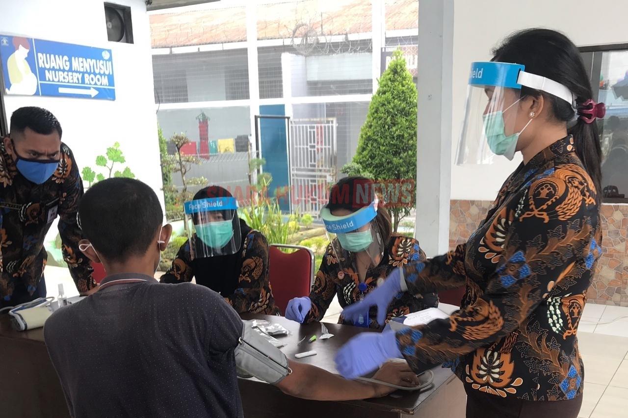 Lapas Kelas IIA Binjai, Lakukan Rapid Test Pada 12 Tahanan Pindahan