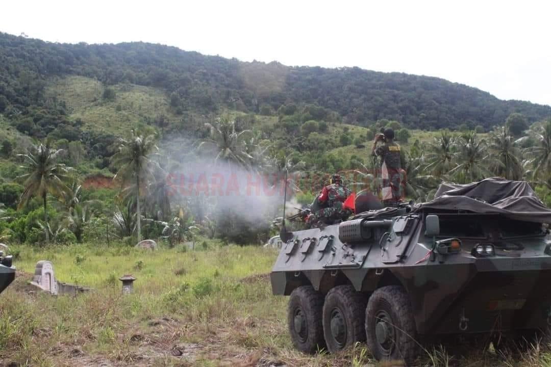 Kikav 12/MDC Gelar Latihan Menembak Senjata Kendaraan Tempur