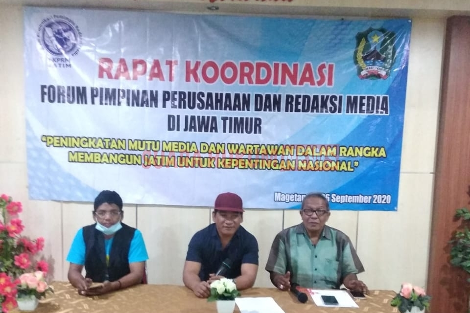 45 Media dari 38 Kab/Kota Di Jatim Tergabung FKPRM Tanggapi Surat DP