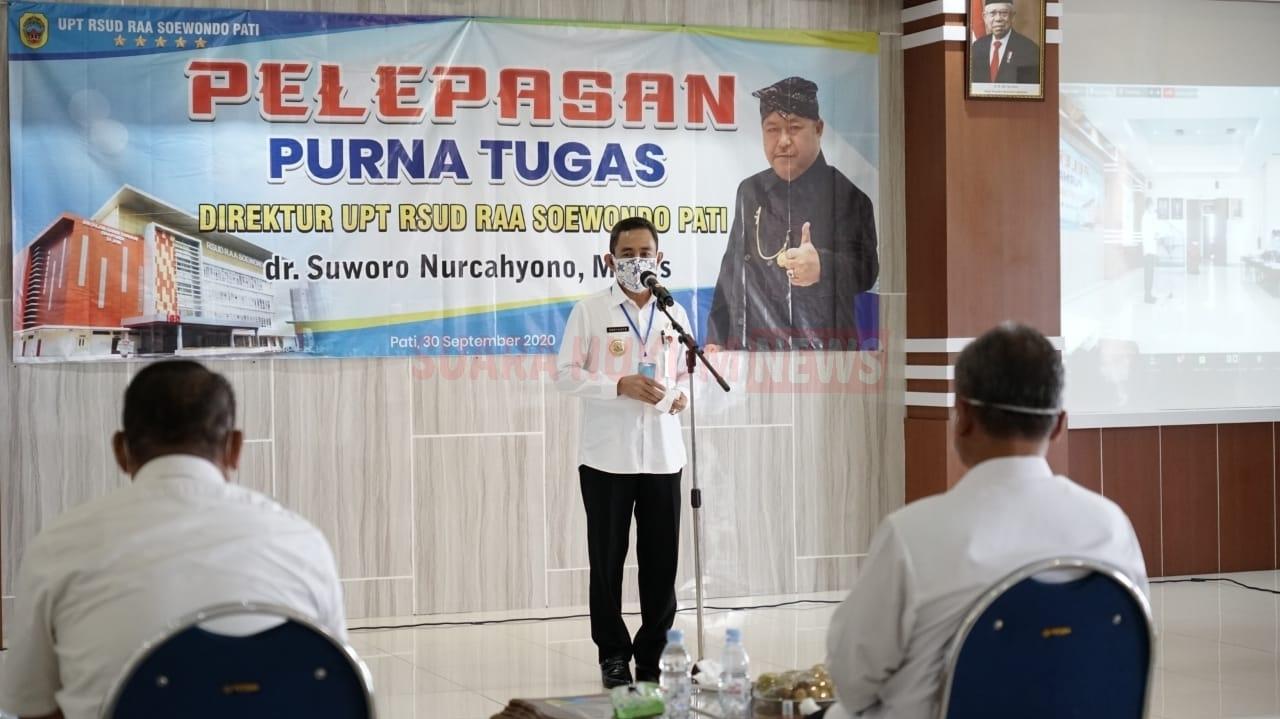 Pelepasan Purna Tugas Direktur UPT RSUD Suwondo, Dihadiri Bupati Haryanto