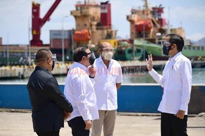 Presiden Jokowi Tinjau Penataan Kawasan Pembangunan Terminal Multifungsi Di Labuan Bajo