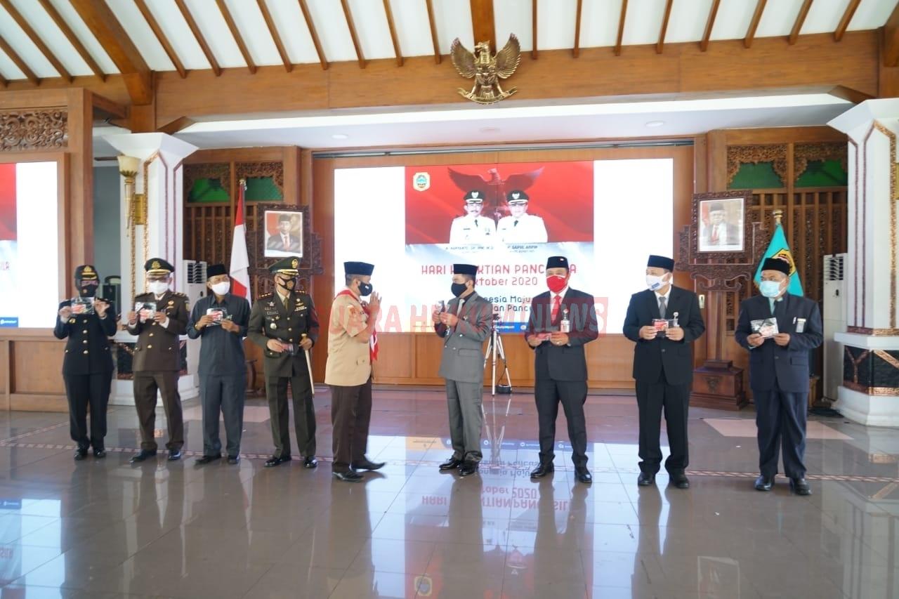 Bupati Ikuti Upacara Peringatan Hari Kesaktian Pancasila Secara Virtual Di Aula Pendopo Kabupaten Pati
