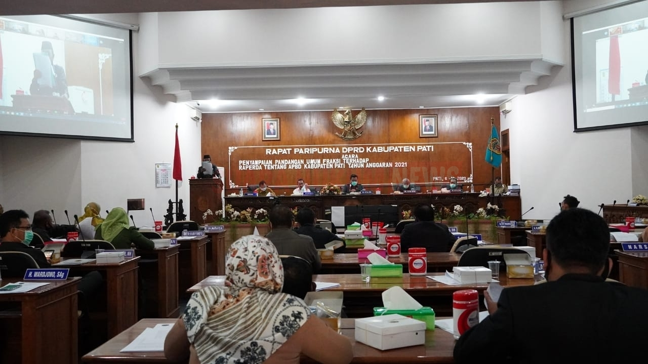 Gelar Rapat Paripurna, Semua Fraksi Dukung Penegakan Prokes Di Kabupaten Pati