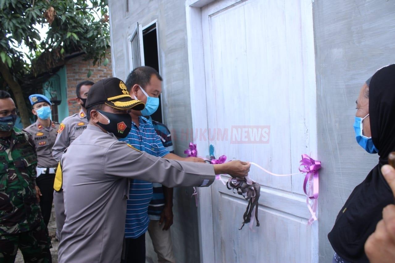 Kapolres Sergai Resmikan Dua Unit Bantuan Bedah Rumah Yang Rusak Akibat Puting Beliung