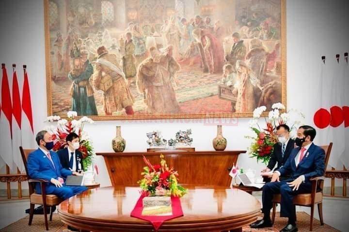 Pertemuan Bilateral Presiden Jokowi Dengan PM Jepang Yoshihide Suga