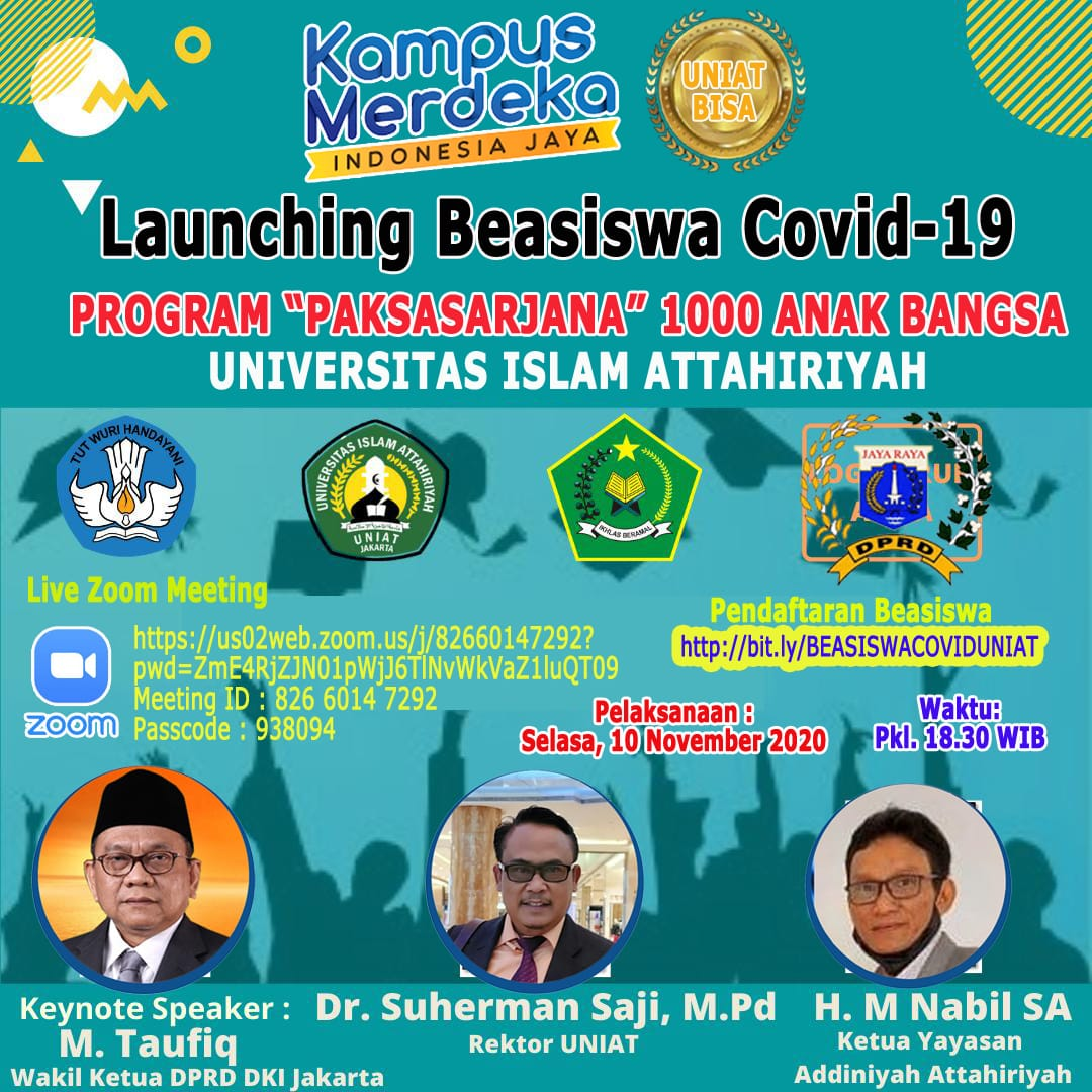 Universitas Islam Attahariyah Launching Beasiswa Covid-19