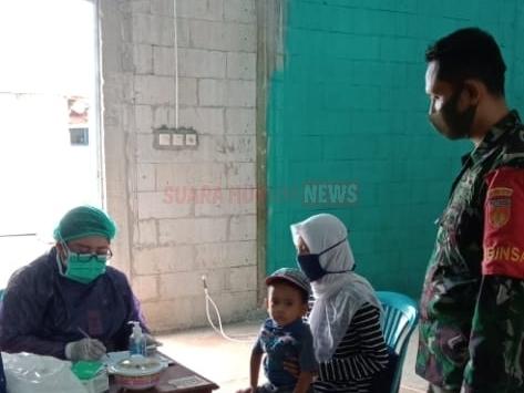 Babinsa Koramil 08/Keling Dampingi Pelaksanaan Posyandu Anak Dan Balita