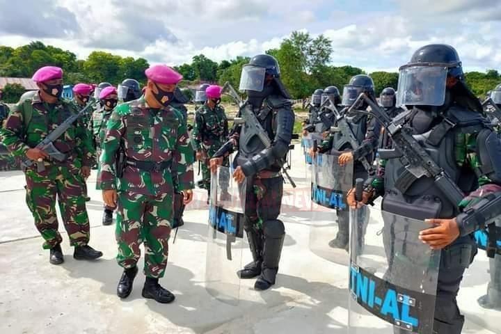 Yonmarhanlan XIII Tarakan, Gelar Apel Jelang Kesiapan Pengamanan Pilkada Serentak Tahun 2020