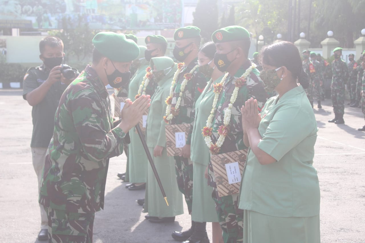 Kodim 0718 Pati Sambut Empat Prajuritnya,Purna Tugas di wilayah Kodam Cendrawasih & Kasuari