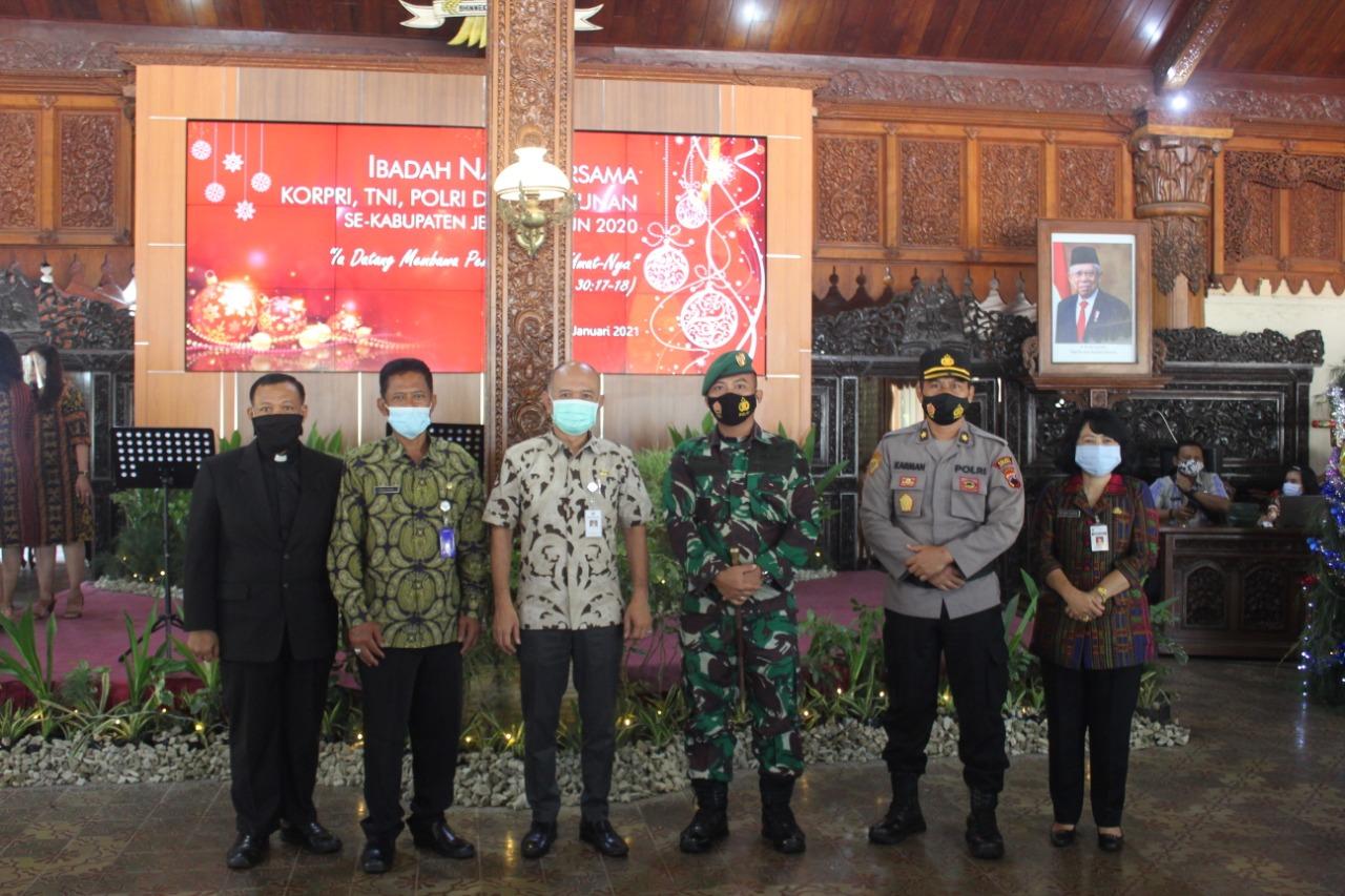 Ibadah Natal bersama TNI, Polri,Korpri dan Pensiunan, Umat Kristiani se-Kabupaten Jepara