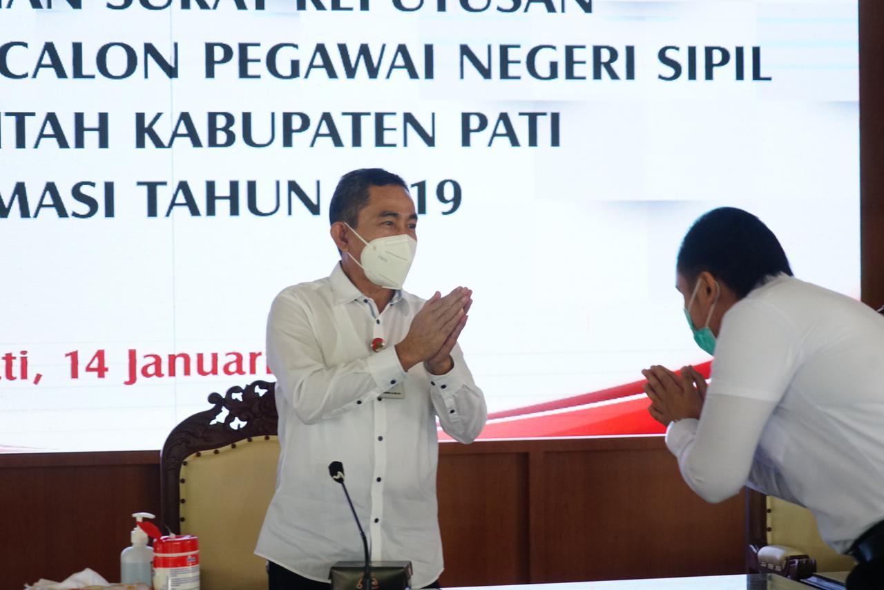 Pengangkatan & Penyerahan 491 SK CPNS Pemkab Pati, Untuk formasi Tahun 2019