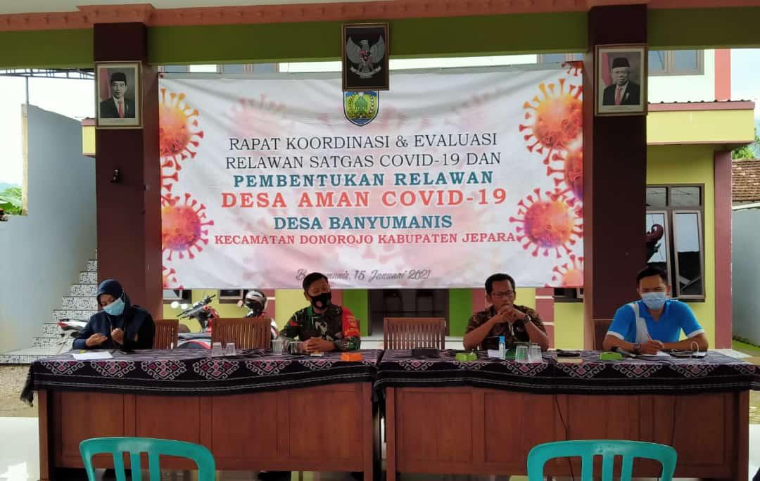 Babinsa Banyumanis Hadiri Rapat Koordinasi, Tentang Pembentukan Relawan Desa Aman Covid-19