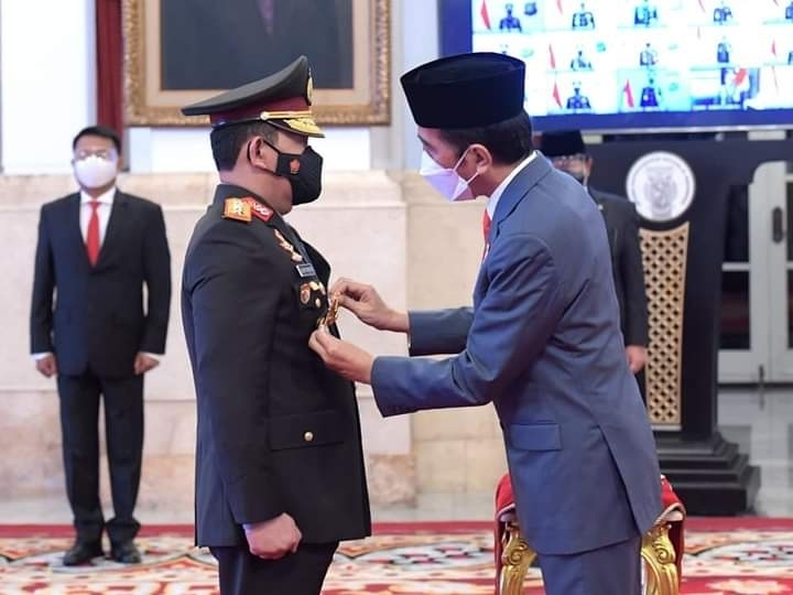 Presiden RI Joko Widodo Melantik Komjen Pol Listyo Sigit Prabowo sebagai Kapolri