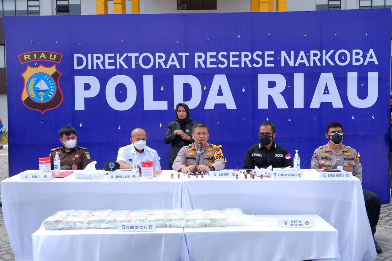 Ditresnarkoba Polda Riau Berhasil ungkap Kasus Narkotika jenis Sabu
