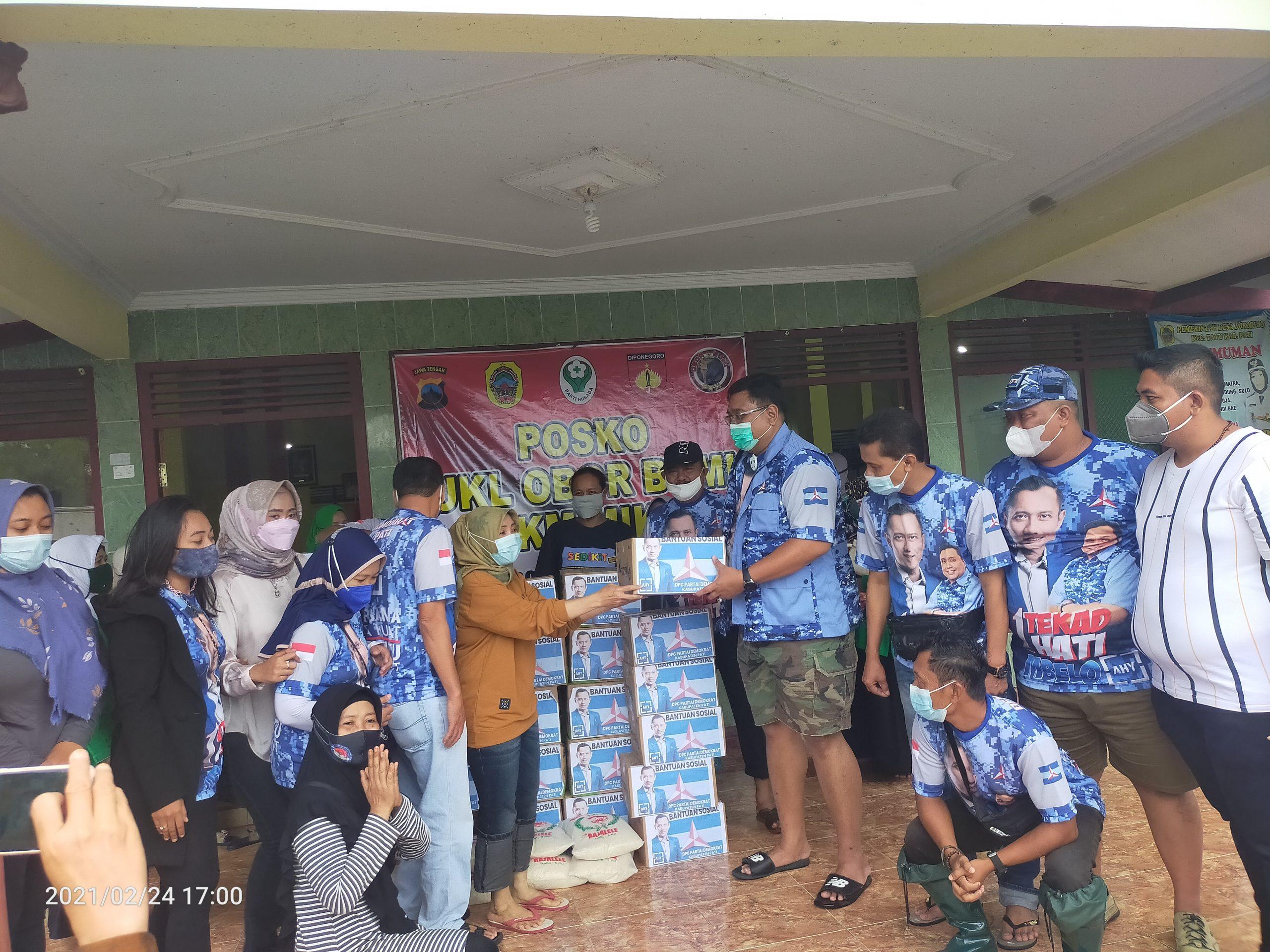 DPC Partai Demokrat Kabupaten Pati Salurkan Bantuan Banjir Ke-empat Desa di Dua Kecamatan