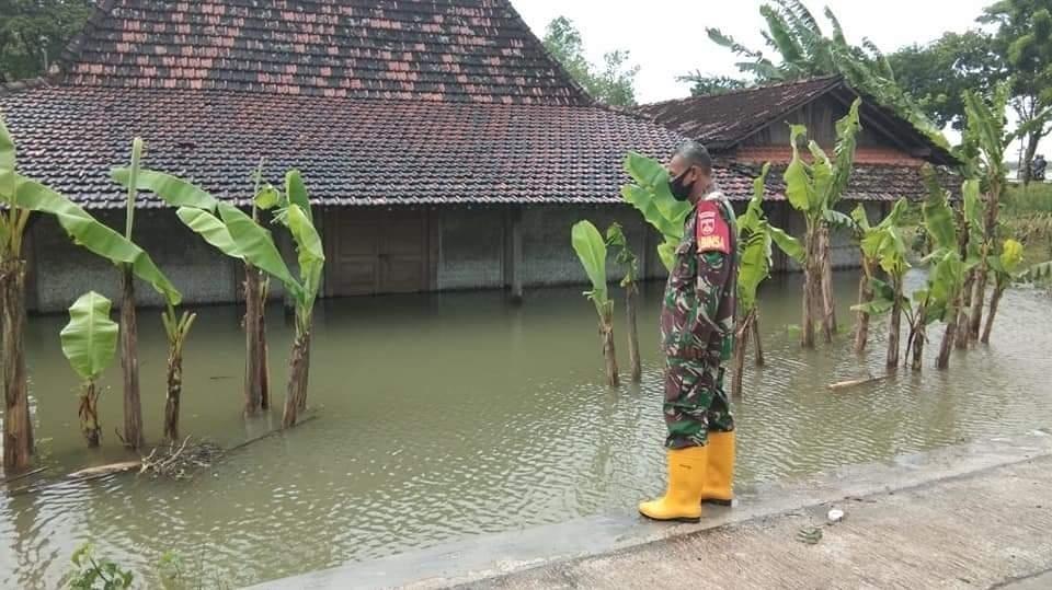 Luapan Air Sungai Silugonggo, Rendam 35 Rumah Warga & 157,5 Hektare Lahan Pertanian