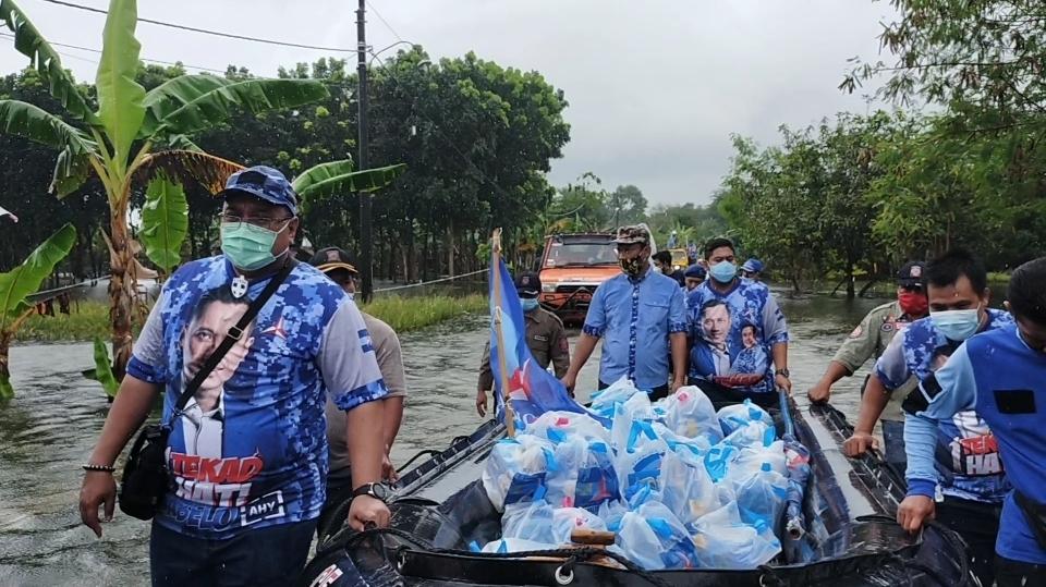 AHY & DPP Demokrat Berikan Bantuan kepada Korban Banjir, Di Salurkan Oleh DPC & PDRI Kabupaten Pati